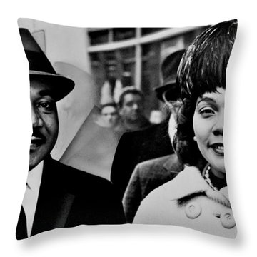 Dr And Mrs King Throw Pillow by Benjamin Yeager