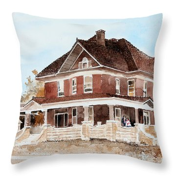 Dr. Hall Residence Throw Pillow