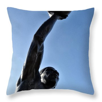 Dr. J. Throw Pillow by Bill Cannon