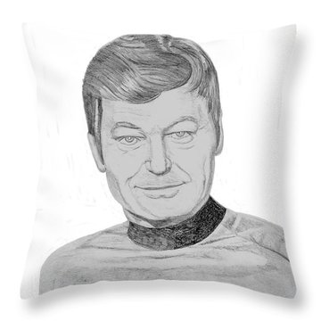 Dr. Leonard Mccoy Throw Pillow