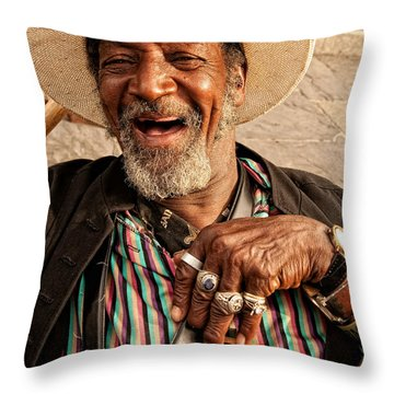 Dr. Luv New Orleans Throw Pillow by Kathleen K Parker