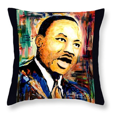Dr. Martin Luther King Jr Throw Pillow