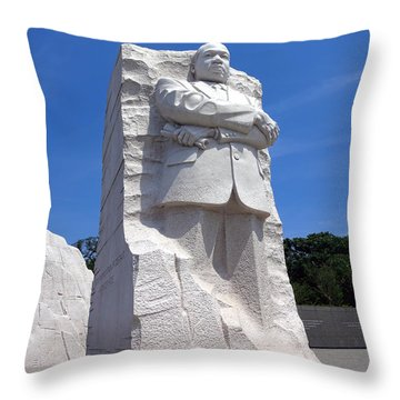 Dr Martin Luther King Memorial Throw Pillow by Olivier Le Queinec