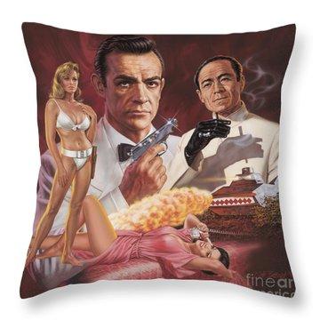Dr. No Throw Pillow