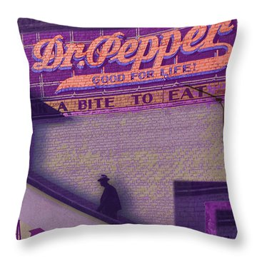 Dr Pepper Blues Throw Pillow by Tony Rubino
