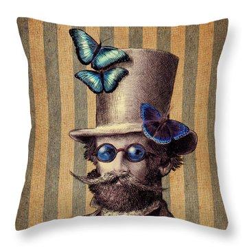 Dr. Popinjay Throw Pillow