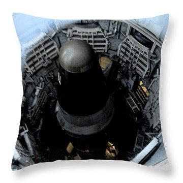 Throw Pillow featuring the photograph Dr. Strangelove Has A Baby by Carolina Liechtenstein