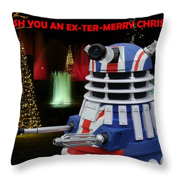 Dr Who - Dalek Christmas Throw Pillow