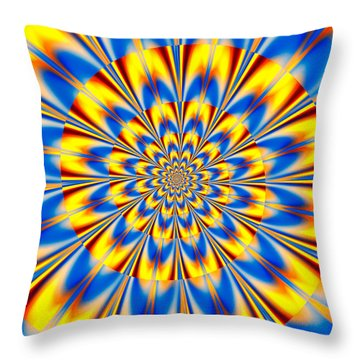 Dr. Who's Spiral Of Time Throw Pillow