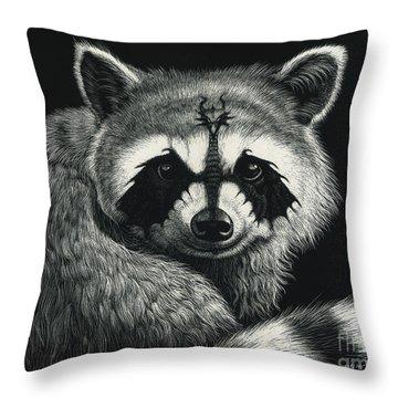 Draccoon Throw Pillow