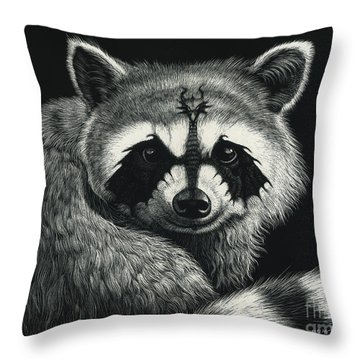 Draccoon Throw Pillow