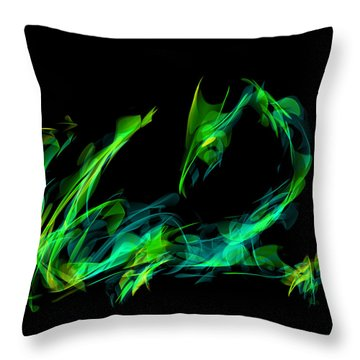 Draconus Emeraude Throw Pillow