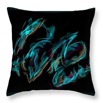 Draconus Labradorite Throw Pillow