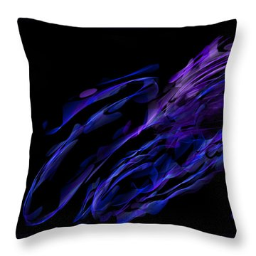 Draconus Sapphiric Throw Pillow