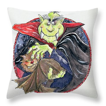 Dracula Throw Pillow by Maylee Christie