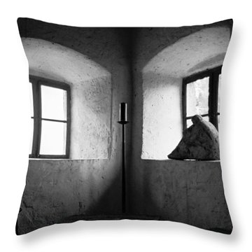 Dracula's Castle Throw Pillow by Dorin Stef