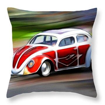 Drag Bug 3 Throw Pillow