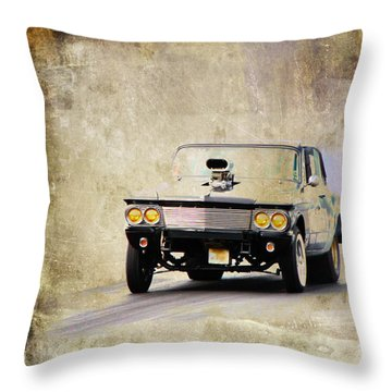 Drag Time Throw Pillow by Steve McKinzie