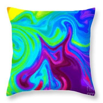 Dragon 2 Throw Pillow by Chris Butler