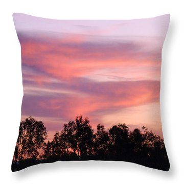 Throw Pillow featuring the photograph Dragon Clouds by Meghan at FireBonnet Art