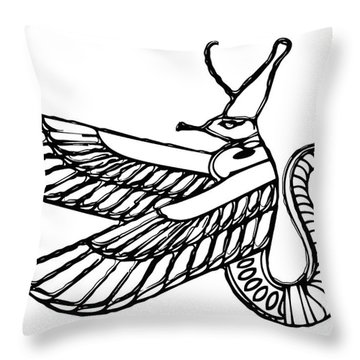 Dragon - Demon Of Ancient Egypt Throw Pillow