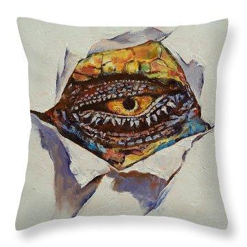 Dragon Eye Throw Pillow by Michael Creese
