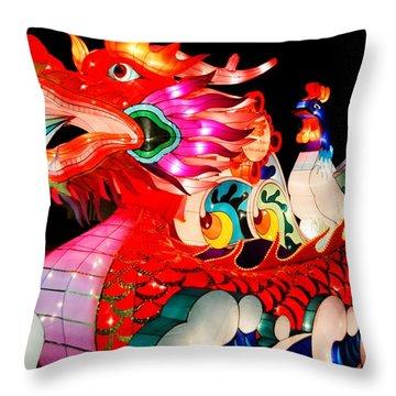 Dragon Float Throw Pillow