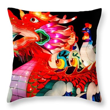 Dragon Float Throw Pillow