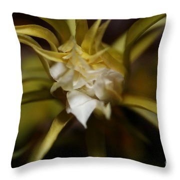 Dragon Flower Throw Pillow by David Millenheft
