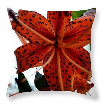 Dragon Flower Throw Pillow