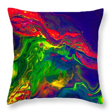 Dragon - Modern Abstract Painting Throw Pillow
