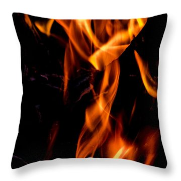 Dragon In Fire Throw Pillow