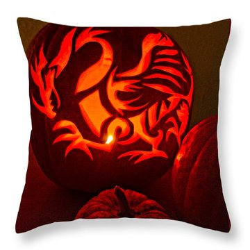 Dragon Lantern Throw Pillow