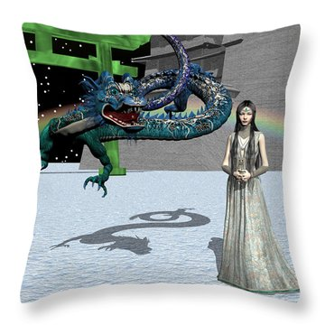 Dragon New Year Throw Pillow by Michele Wilson
