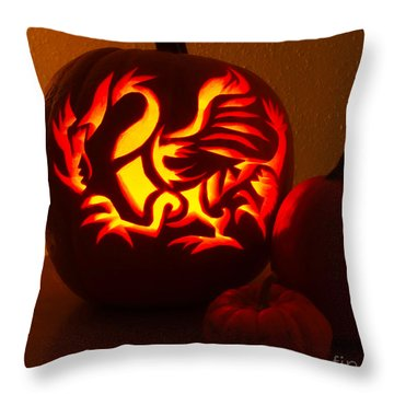 Dragon Light Of Fall Throw Pillow