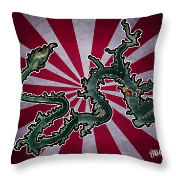 Dragon Of The Colorado Throw Pillow