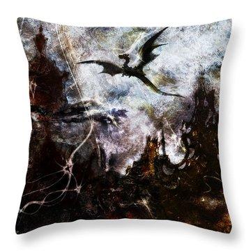 Dragon Realms II Throw Pillow