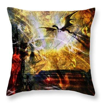 Dragon Realms Iv Throw Pillow