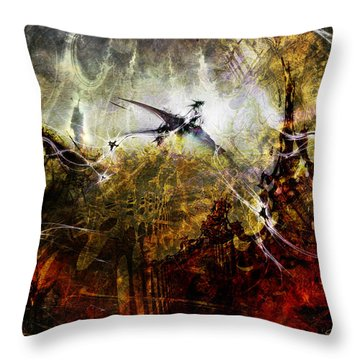 Dragon Realms Throw Pillow