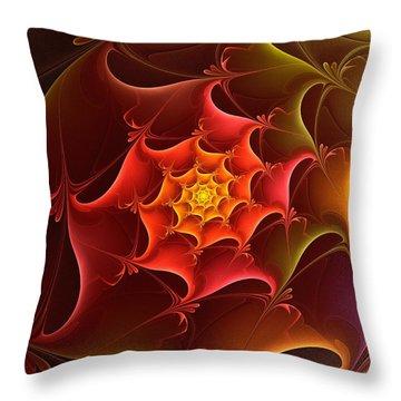 Dragon Scale Throw Pillow by Anastasiya Malakhova