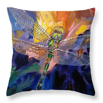 Dragon Summer Throw Pillow