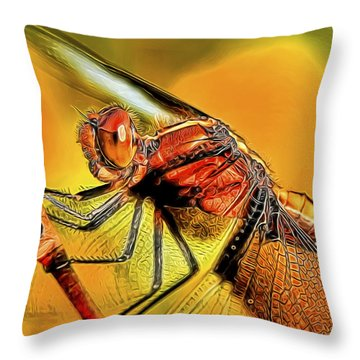 Dragonfly 2 Throw Pillow by William Horden
