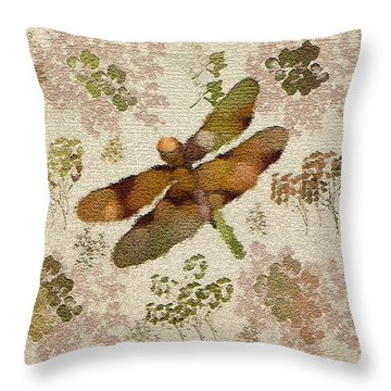 Dragonfly Away Throw Pillow