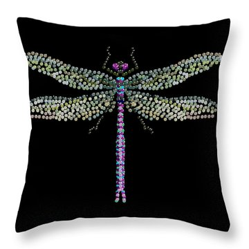 Dragonfly Bedazzled Throw Pillow