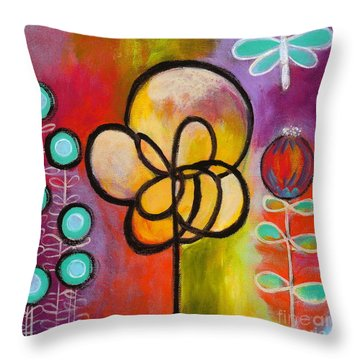 Dragonfly Throw Pillow by Carla Bank