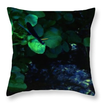 Dragonfly Daze Throw Pillow