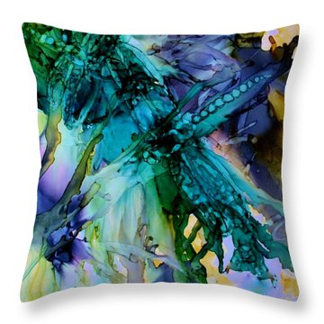 Dragonfly Dreamin Throw Pillow