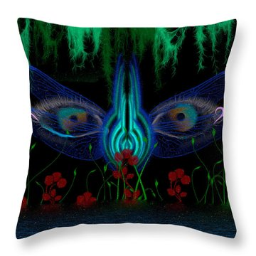 Dragonfly Eyes Series 6 Final Throw Pillow