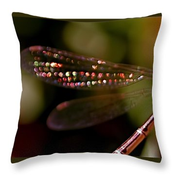 Dragonfly Jewels Throw Pillow by Rona Black
