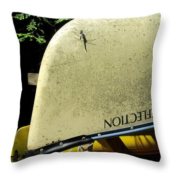 Dragonfly Resting Throw Pillow by Avis  Noelle